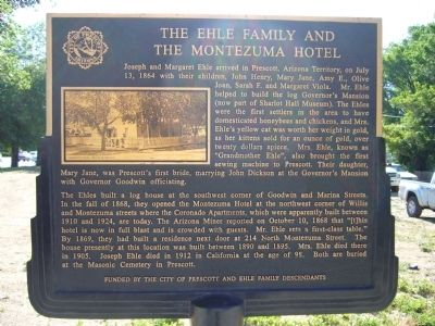 The Ehle Family and the Montezuma Hotel Marker image. Click for full size.