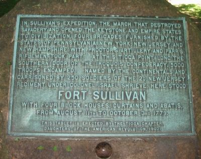 Fort Sullivan Marker image. Click for full size.