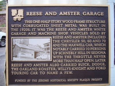 Reese and Amster Garage Marker image. Click for full size.