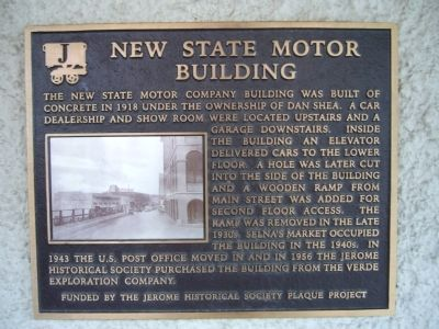 New State Motor Building Marker image. Click for full size.