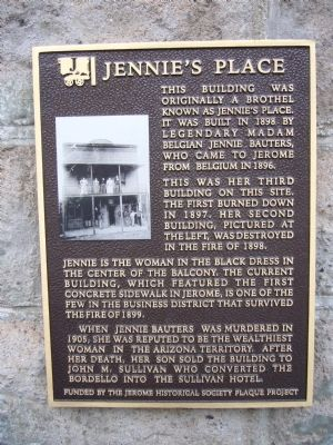 Jennie's Place Marker image. Click for full size.