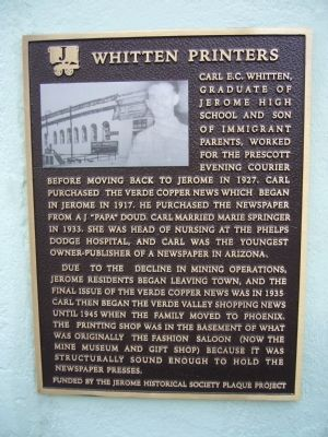 Whitten Printers Marker image. Click for full size.