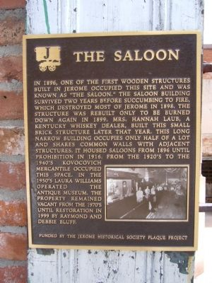 The Saloon Marker image. Click for full size.