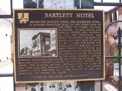 Bartlett Hotel Marker image. Click for full size.