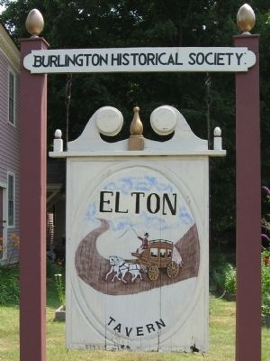 Elton Tavern - Burlington Historical Society image. Click for full size.