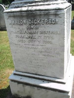 Mahlon Dickerson Monument image. Click for full size.