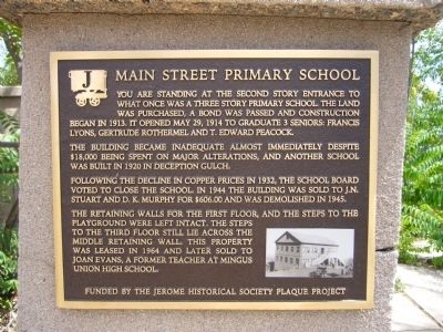 Main Street Primary School Marker image. Click for full size.