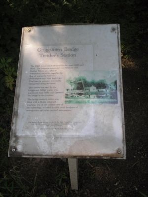 Griggstown Bridge Tender's Station Marker image. Click for full size.
