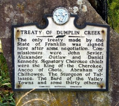 Treaty of Dumplin Creek Marker image. Click for full size.