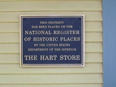 NRHP Plaque for The Hart Store image. Click for full size.