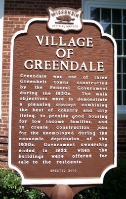 Village of Greendale Marker image. Click for full size.