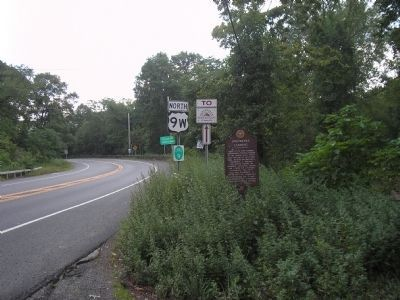 Marker on Route 9W image. Click for full size.