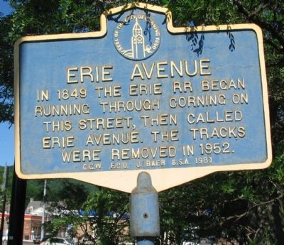 Erie Avenue Marker image. Click for full size.