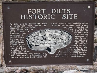 Fort Dilts Historic Site Marker image. Click for full size.