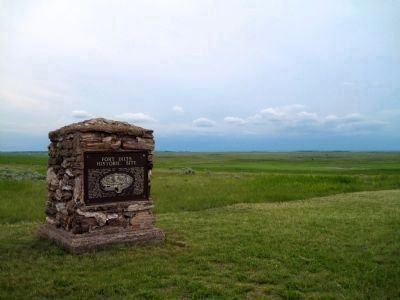 Fort Dilts Historic Site Marker and Landscape image. Click for full size.