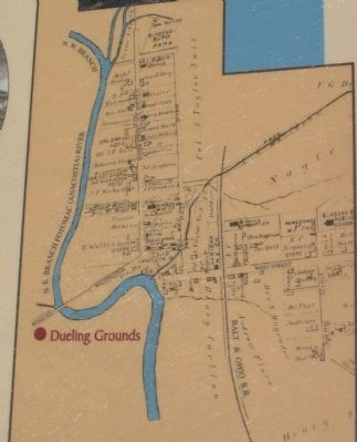 Map of Bladensburg Showing Dueling Ground image. Click for full size.