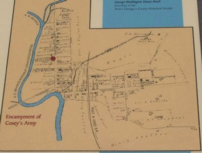 Map Showing Location of Encampment image. Click for full size.