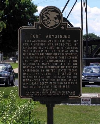 Fort Armstrong Marker image. Click for full size.
