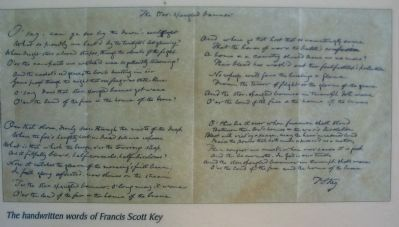 Key's Handwritten Copy of the Star-Spangled Banner image. Click for full size.