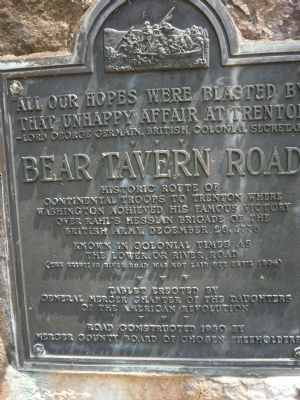 Bear Tavern Road Marker image. Click for full size.