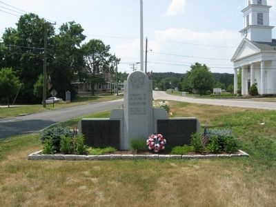 Burlington World War II & Korean War Monument image. Click for full size.