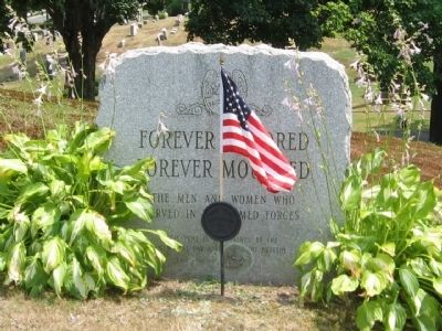 Forever Honored Forever Mourned Marker image. Click for full size.