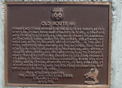 Old Route 66 Marker image. Click for full size.
