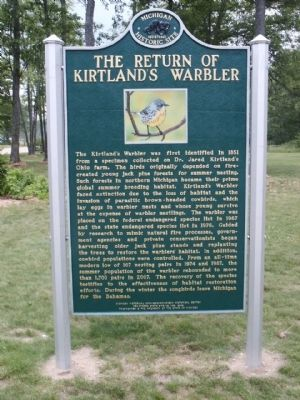 The Return of Kirtland's Warbler Marker image. Click for full size.