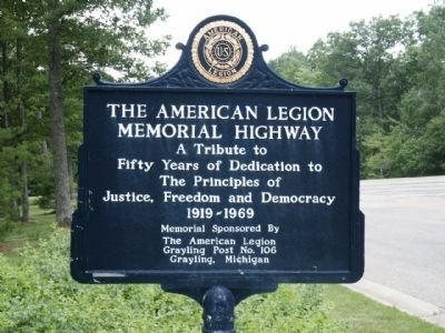 The American Legion Memorial Highway sign image. Click for full size.