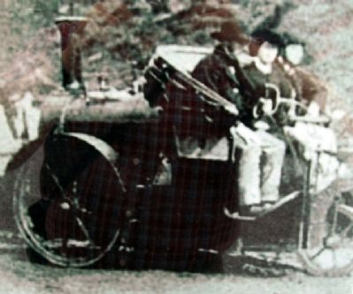 """A Steam Car of the Era"" Photo on Marker image. Click for full size."