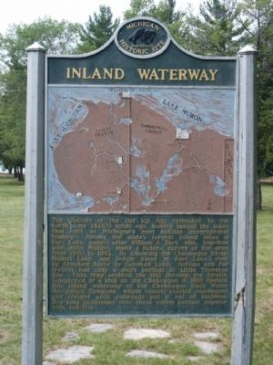 Inland Waterway Marker image. Click for full size.