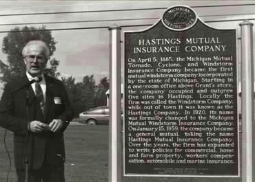 Hastings Mutual Historic Marker Unveiling Ceremony image. Click for full size.