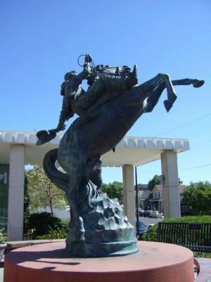 100 Years of Rodeo Monument image. Click for full size.
