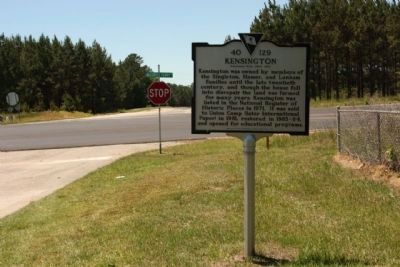 Kensington Marker, seen near McCords Ferry Road (US 601) image. Click for full size.