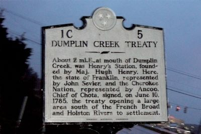 Dumplin Creek Treaty Marker image. Click for full size.