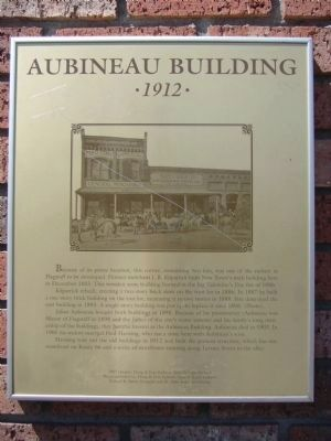 Aubineau Building Marker image. Click for full size.