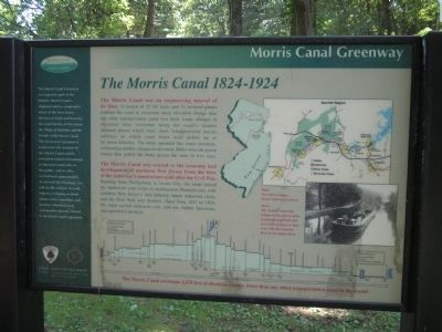The Morris Canal   1824 – 1924 Marker image. Click for full size.