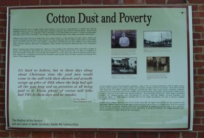 Cotton Dust and Poverty Marker image. Click for full size.