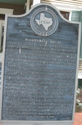 McCampbell House Marker image. Click for full size.