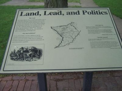 Land, Lead, and Politics Marker image. Click for full size.