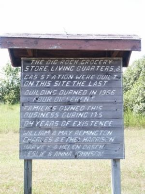 The Big Rock Grocery Store, Living Quarters, & Gas Station sign image. Click for full size.