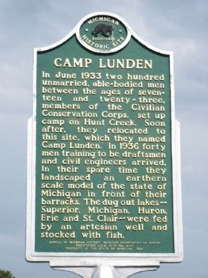 Camp Lunden Marker image. Click for full size.
