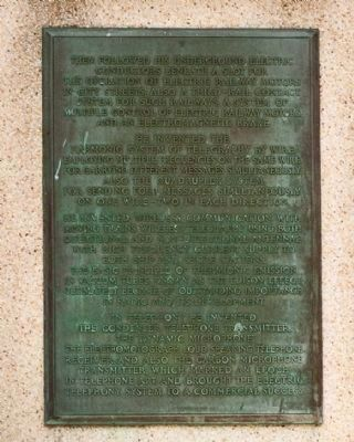 Thomas Alva Edison Memorial Tower Marker Plaque V image. Click for full size.