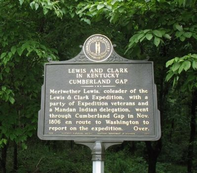 Lewis and Clark in Kentucky Cumberland Gap Marker image. Click for full size.