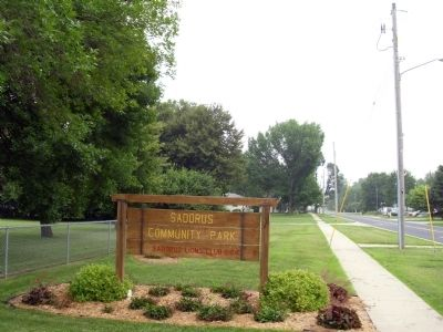 Looking North - - 'Sadorus Community Park' - Sign image. Click for full size.
