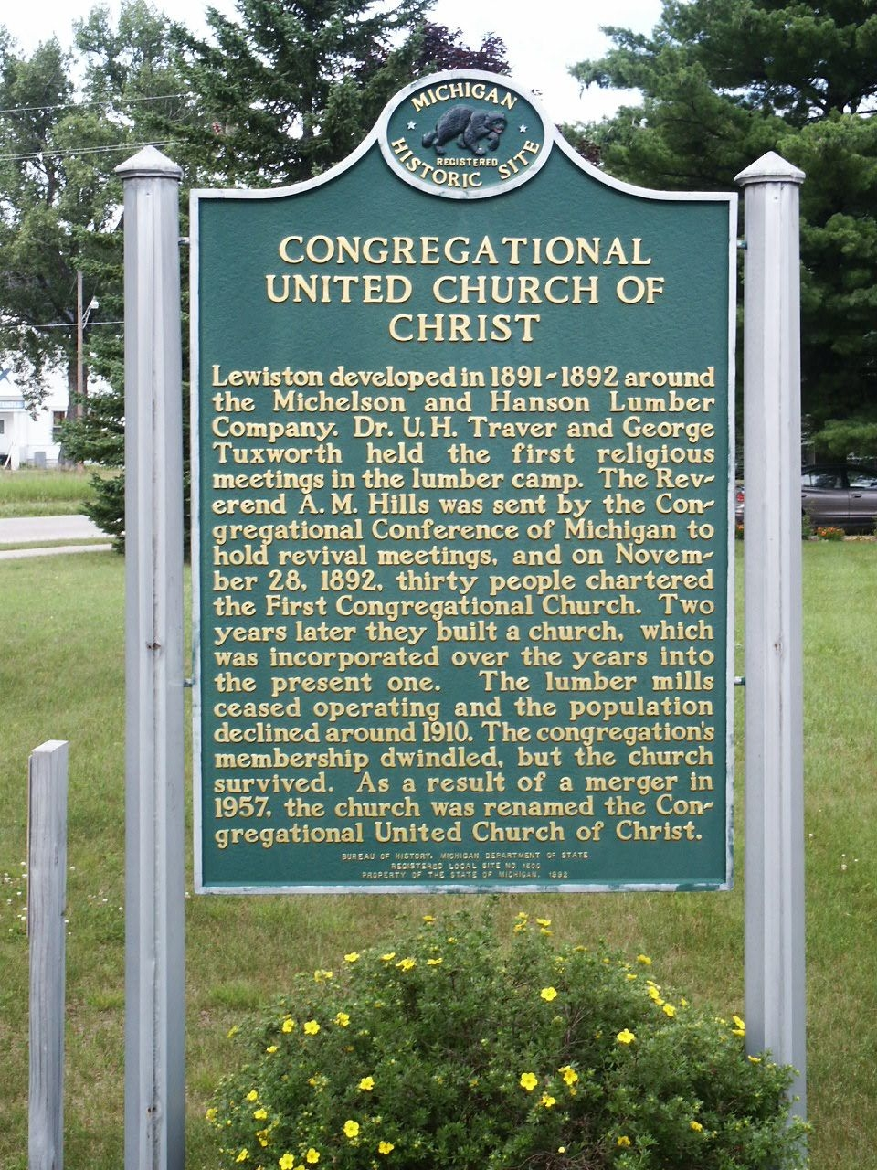 Congregational United Church of Christ Marker