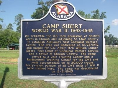 Camp Sibert Marker image. Click for full size.