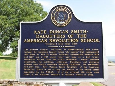 Kate Duncan Smith - Daughters of the American Revolution School Marker image. Click for full size.