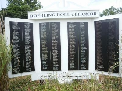 Roebling Roll of Honor Marker image. Click for full size.