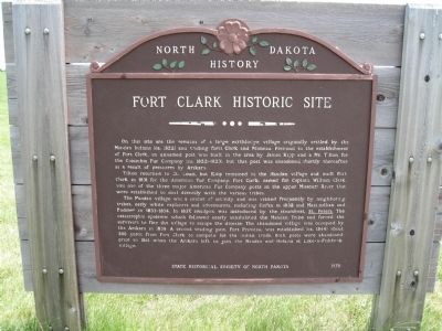 Fort Clark Historic Site Marker image. Click for full size.